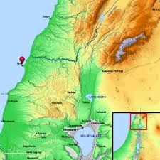 Gennesaret Map Biblical Tyre Map Images Reverse Search