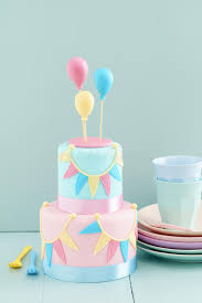 birthday cake with balloons stock photo image 66469356
