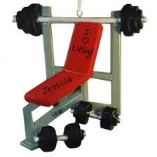 exercise fitness ornaments personalized