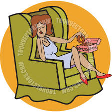 Couch Potato Clipart Cartoon Lazy Woman Vector Illustration By Clip Art Guy Toon