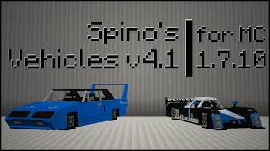 cool modded cars 1 7 10 spino u0027s vehicles v4 1 flan u0027s mod minecraft mods