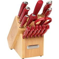 walmart kitchen knives farberware 15 forged riveted knife set