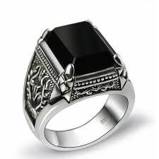 black stones rings images Ijewelry2 clear diamond cz square princess cut magnetic men stud jpg