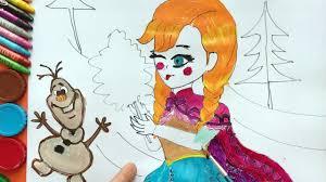 elsa anna draw disney frozen characters anna