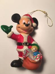 disney collectible vintage mickey mouse plastic christmas ornament