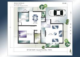 Two Bedroom Duplex Dazzling Design 30 X 40 Duplex House Plans South Facing 12 30x40 2
