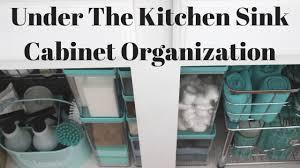 cabinet organizing under the kitchen sink best organize under