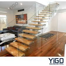 cheap and fine aisi 304 mono stringer staircase yigo building