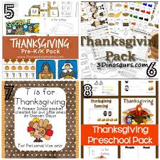 8 free packs of thanksgiving pre k worksheets for toddlers