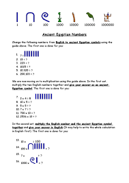 ancient egyptian numbers 5th 6th grade worksheet lesson planet
