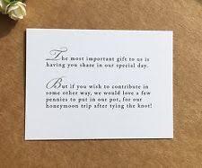 wedding gift honeymoon wedding poem cards for honeymoon ebay