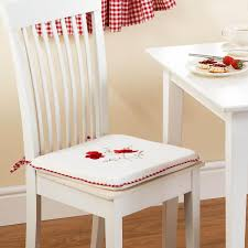 Dining Room Chair Pads Cushions Red Kitchen Chair Pads Trends With Deauville In Dining Cushion