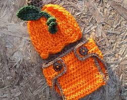 Infant Pumpkin Halloween Costumes Newborn Pumpkin Etsy