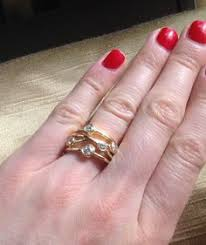 Wedding Ring On Right Hand by Alternative Wedding Ring With Diamonds And White Gold 3 Strands