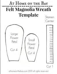 felt magnolia flower wreath magnolias pinterest magnolia