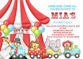 carnival circus birthday or baby shower invitation circus