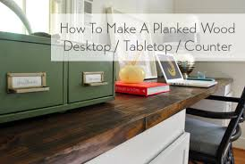 Build A Wooden Table Top by How To Make A Planked Wood Desktop Counter Young House Love