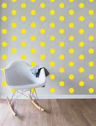 forwalls sunny spots yellow dots removable wall decal stickers