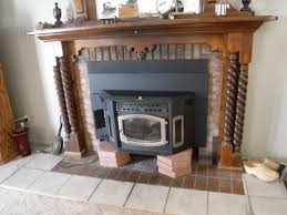 before and after repair of a pellet stove installation