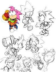 tysonhesse some sonic practice sketches gotta speed keed