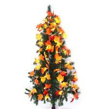 maple leaf garland with lights 8 2 feet maple leaves garland led light fall decor 20 warm lights