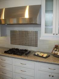 Backsplashes For White Kitchen Cabinets Amusing Silver Color Stainless Steel Kitchen Backsplash Featuring