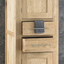 Solid Wood Bathroom Cabinet Bathroom Shelves The Most Solid Oak Two Drawer And Door