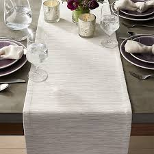 table runner grasscloth white table runner crate and barrel