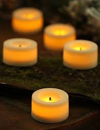 fake tea light candles battery operated votive candles modern 9 pack 75 inch round cream