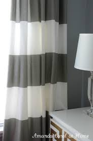 Grey White Striped Curtains Appealing Grey White Striped Curtains Decorating With Innovative