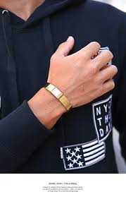 man hand bracelet images Clothes unit rakuten global market bangle men bracelet gold jpg