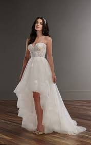 high low wedding dress strapless high low wedding dress martina liana bridal gowns