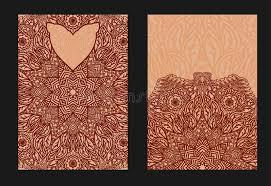 henna wedding invitations ethnic template for design wedding invitations and greeting frames