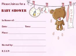 blank baby shower invitations templates 5690