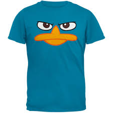 perry the platypus halloween costume phineas u0026 ferb perry the platypus face t shirt walmart com