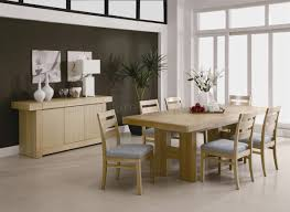 Light Oak Dining Room Sets Light Ash Finish Modern Dining Room Set W Options