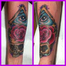 eye skull rose tattoo by hamdoggz on deviantart