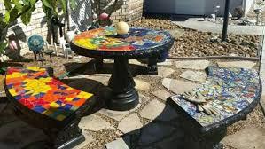 Mosaic Top Patio Table Outdoor Mosaics Mosaic Supply