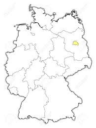 Map Of Berlin Germany by Political Map Of Germany With The Several States Where Berlin