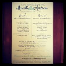 Programs For Wedding Wedding Programs Romantic Decoration