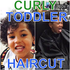 toddler curly hair cut youtube