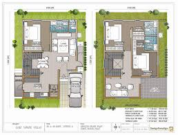 duplex house plan for north facing plot 22 feet by 30 plan 2 4