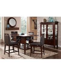 Room To Go Dining Sets Don U0027t Miss This Deal Julian Place Chocolate 5 Pc Counter Height