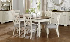 chic cream extending dining table for home interior redesign with