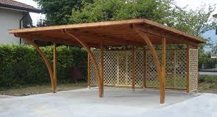 preventivo tettoia in legno box auto in legno