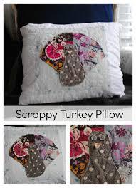 scrappy turkey pillow tutorial