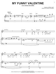 my funny valentine sheet music direct