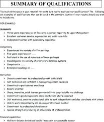 resume skills and qualifications exles for a resume summary exles for resumes lidazayiflama info