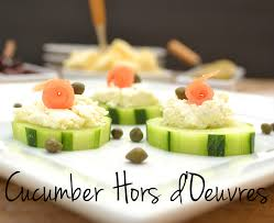 Dinner Party Hors D Oeuvre Ideas Cucumber Hors D U0027oeuvres With Garlic U0026 Herb Cheese Smoked Salmon