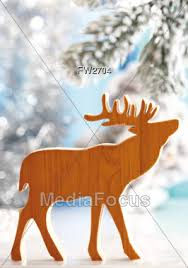 Wooden Christmas Reindeer Decorations by Stock Photo Christmas Reindeer Wood Cutout Image Fw2704